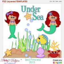 Sea Princess Layered Element Templates