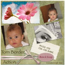 Action - Torn Border by Rose.li