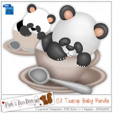 Teacup Baby Panda Layered Template by Peek a Boo Designs