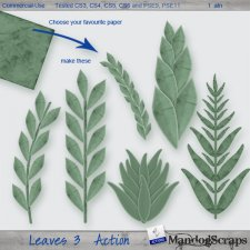 Leaves 3 Action by Mandog Scraps