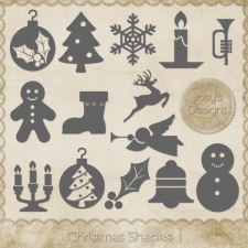 Christmas Shapes 1 by Josy