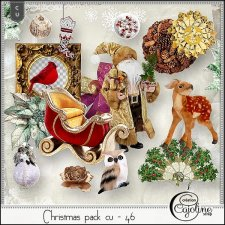 Christmas pack CU - 46 by Cajoline-Scrap