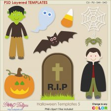 Halloween Layered TEMPLATES 5