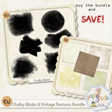 Chalky Masks & Vintage Textures Bundle EXCLUSIVE by Papierstudio Silke