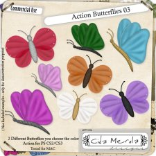 Butterflies 03 Action by Cida Merola