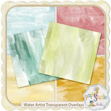 Water Artist Transparent Overlays - PNG - EXCLUSIVE by PapierStudio Silke