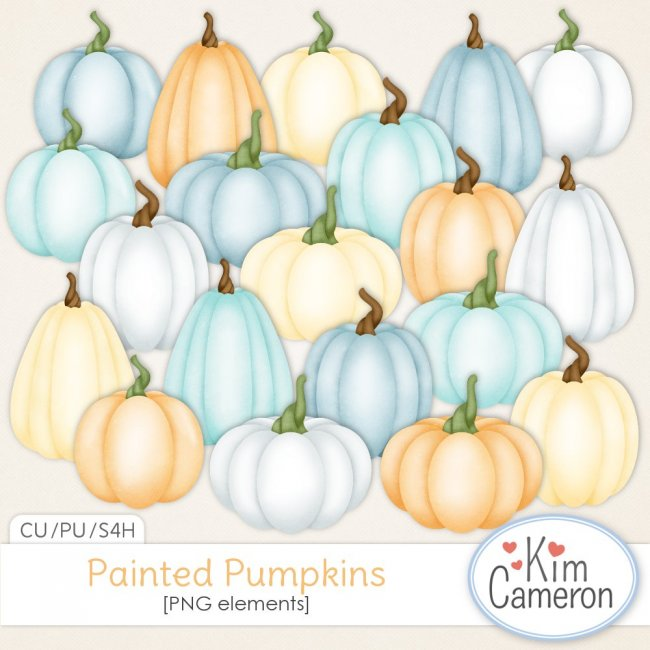 Painted Pumpkins by Kim Cameron