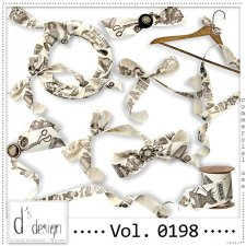 Vol. 0198 - Vintage Ribbons Mix by Doudou's Design