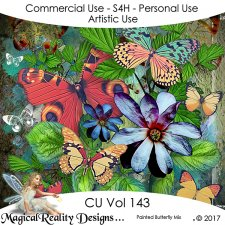 Painted Butterfly Mix - CU Vol 143 by MagicalReality Designs