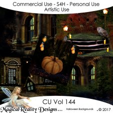 Halloween Backgrounds - CU Vol 144 by MagicalReality Designs