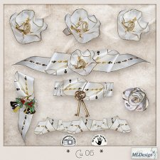 CU set 06 Flowers christmas ribbons by MLDesigns