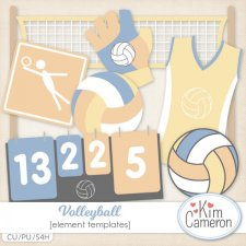 Volleyball Templates by Kim Cameron