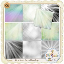 Gradient Rays Overlays and Tutorial EXCLUSIVE by PapierStudio Silke