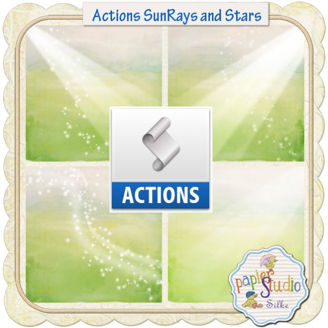Actions Sunrays and Stars EXCLUSIVE by PapierStudio Silke