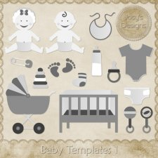 Baby Layered Templates 1 by Josy