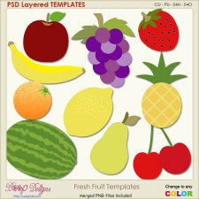 Fresh Fruit Layered Templates