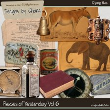 Vintage Papers Vol 6 - EXCLUSIVE Designs by Ohana