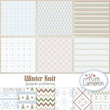 Winter Knit Patterns by Kim Cameron