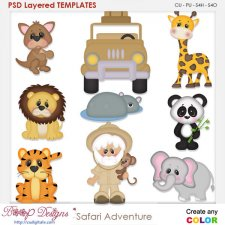 Safari Adventure Layered Element Templates