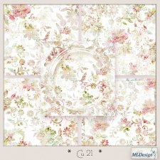 CU set 21 Fantasy floral by MLDesigns