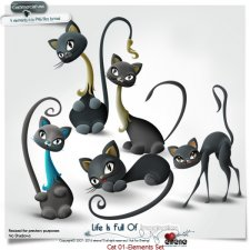 Cats 01-Elements by Eirene Designs
