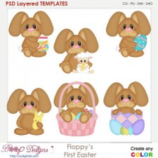 Floppy's First Easter Layered Element Templates