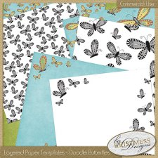 Layered Paper Templates - Butterflies EXCLUSIVE by Kristmess