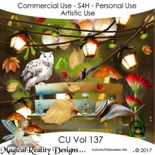 Autumn Halloween Mix - CU Vol 137 by MagicalReality Designs