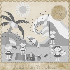 Beach Fun Layered Templates by Josy
