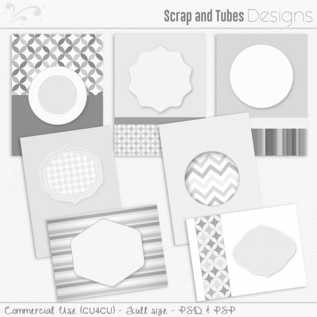 Basic Card Templates 3 (CU4CU) by Scrap and Tubes