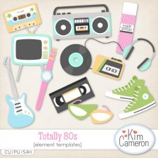 Totally 80s Templates by Kim Cameron