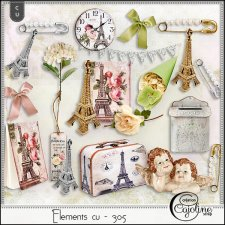 Elements CU - 305 Vintage inspiration in Paris by Cajoline-Scrap