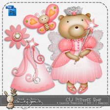 Princess Bear Templates by Peek a Boo Designs