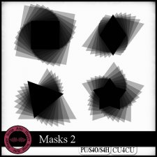 Masks 2 CU4CU by Happy Scrap Art