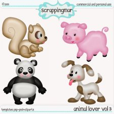 Animal Lover Vol3 Template - Clipart by ScrapingMar