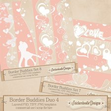 Border Buddies Duo Set 4 by SnickerdoodleDesigns