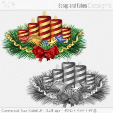 Christmas Candles Template (CU4CU) by Scrap and Tubes