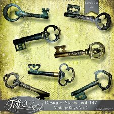 Designer Stash Vol. 147 - Vintage Keys No. 2 by Feli Designs