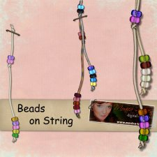 Beads on String - action by Monica Larsen