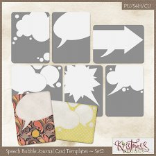 Speech Bubble Journal Card Templates Set2