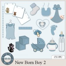 New Born Boy 2 elements by Happy Scrap Arts