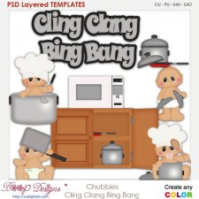 Chubbies Cling clang Bing Bang Layered Element Templates