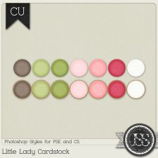 Little Lady Chipboard PS Styles by Just So Scrappy