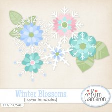 Winter Blossoms Templates by Kim Cameron