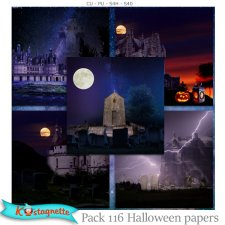 Pack 116 halloween papers by Kastagnette