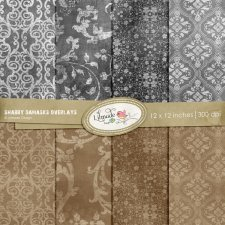 Shabby Damask Overlays Lilmade Designs