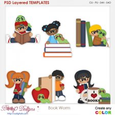 Bookworm Kids Element Templates