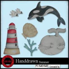 EXCLUSIVE Handdrawn Summer elements by Happy Scrap Arts