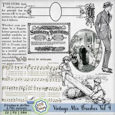 Vintage Mix Brushes Vol 4 by ADB Designs