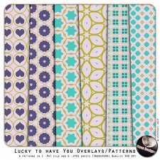 Lucky to Have You Overlays & Patterns by MoonDesigns